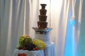 Fontanna czekoladowa na pokazie