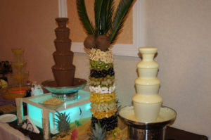 fontanna serowa i alkoholowa