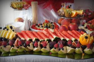 Fragment stołu owocowego