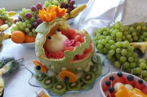 Dekoracyjny arbuz na stol