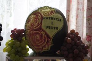 dekoracyjny arbuz na wesele