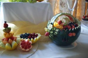 kosz z arbuza carving