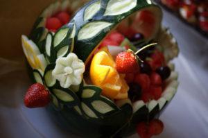 koszyk z arbuza carving