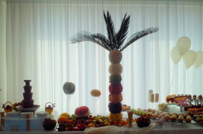 Bardzo duża palma owocowa