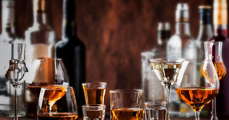 Zestaw alkoholi