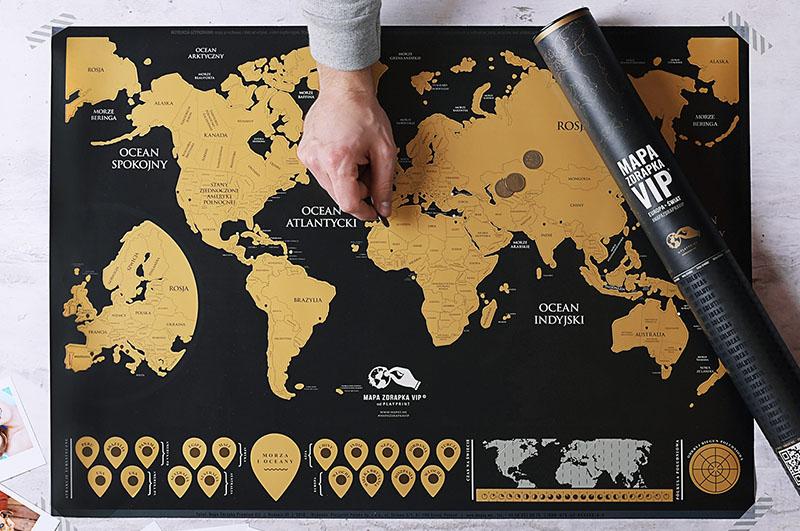 Mapa zdrapka na prezent na 15 rocznice