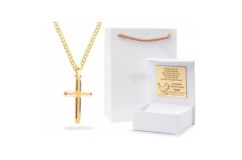 Złoty łańcuszek na komunię świętą