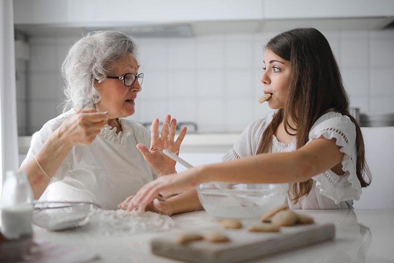 Wspólnie spędzony czas z babcią