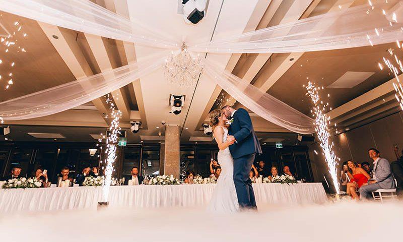 Taniec weselny pary młodej