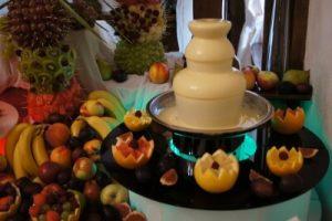 Fontanna serowa na weselu